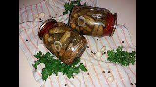 Обалденные огурчики Рецепт маринованных огурцов Хрустящие маринованные огурцы на зиму
