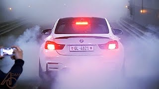The most tyre smoke Monaco has EVER seen!
