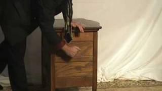 Oak Washstand Cabinet, Dry Sink Bowfront