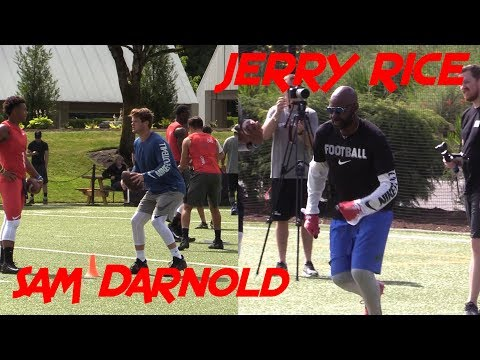 WR Jerry Rice & USC QB Sam Darnold make special appearance at The Opening / Elite 11 Day 1 Practice