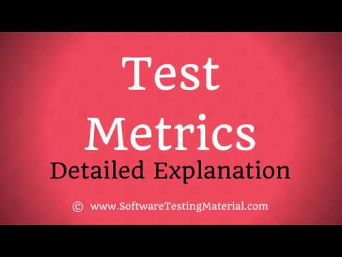 Test Metrics in Software Testing - Product Metrics & Process Metrics