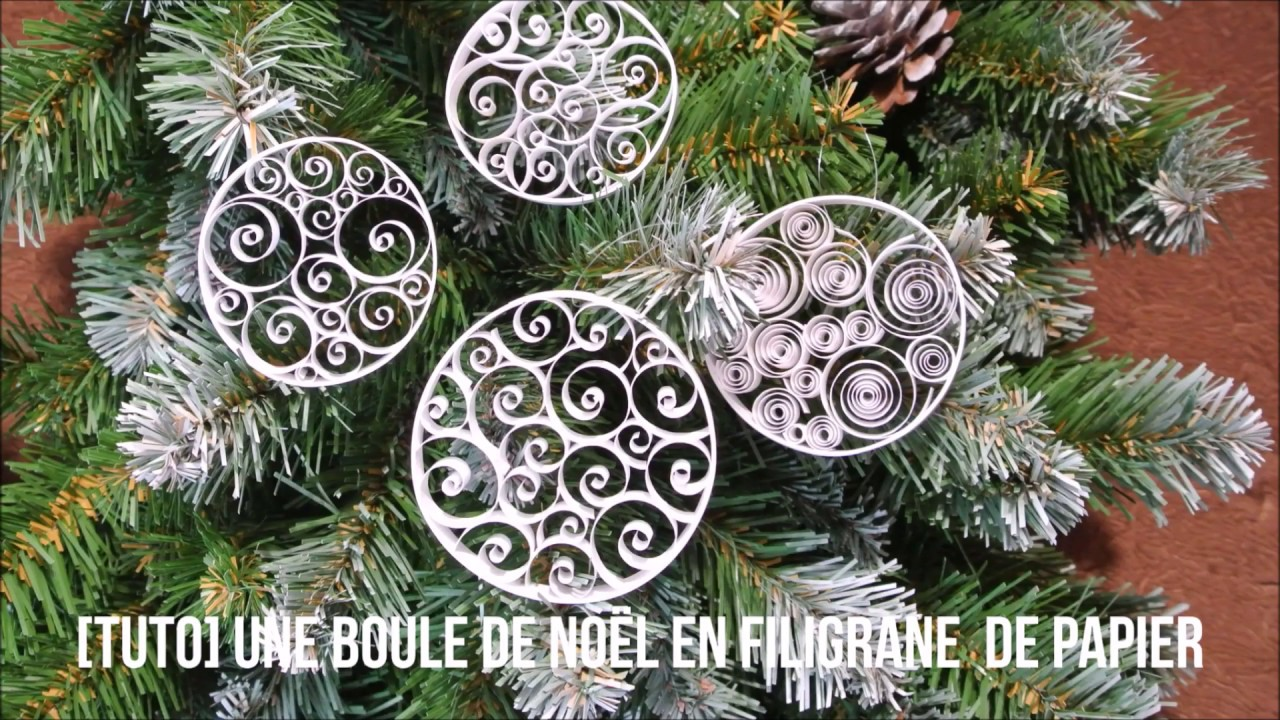 Modele De Decoration De Table De Noel Tuto Boule De Noël En Quilling