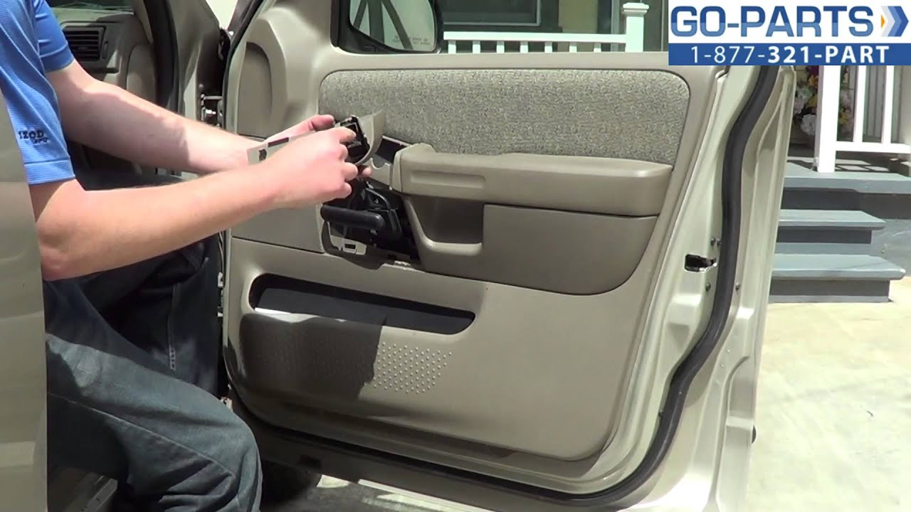 replace 2001 2005 ford explorer door panel how to change install 2002 2003 2004 youtube. Black Bedroom Furniture Sets. Home Design Ideas