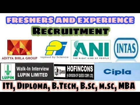 Government,Private Jobs  Recruitment   ITI,Diploma,B.Tech,M.Tech,M.Sc,B.Sc,B Com,B.Pharma,Any Degree