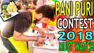 fastest golgappa eating challenge