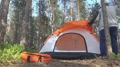 Tiilikkajärvi teltan pystytys