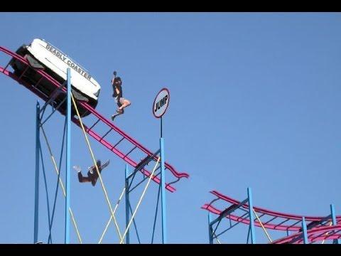 Gwazi Wooden Roller Coaster Pov Closing In Feb 2015