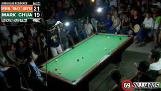 "(10) Mark Chua Vs Efren ""Bata"" Reyes (Tiaong Quezon) Different Angle View"