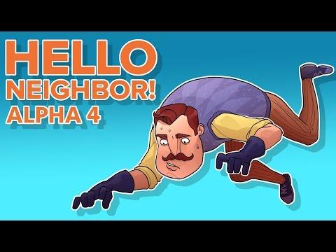 I BROKE THE GAME!! (Hello Neighbor Alpha 4)
