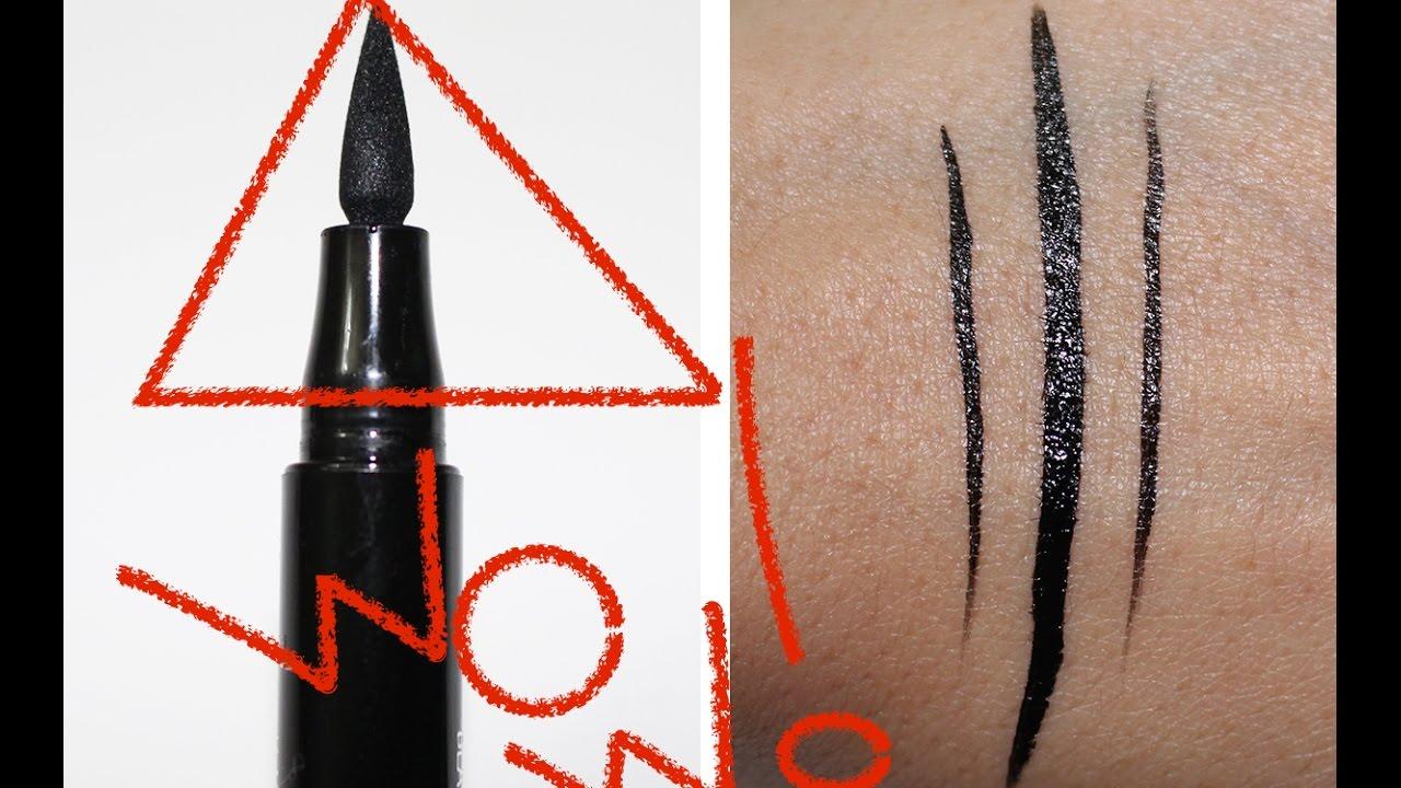 L'Oreal Voluminous Superstar Liquid Eyeliner WINGED LOOK Review & Demo