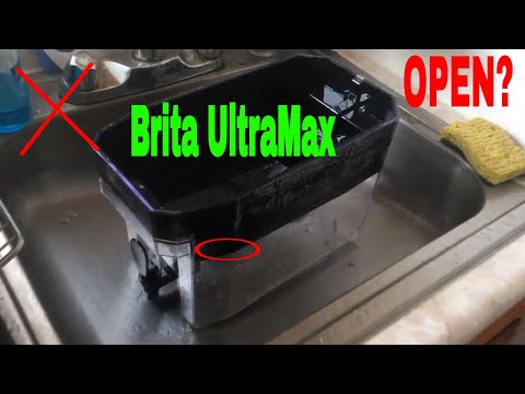 ✅  How To Open Brita UltraMax Water Filter Dispenser For Cleaning 🔴