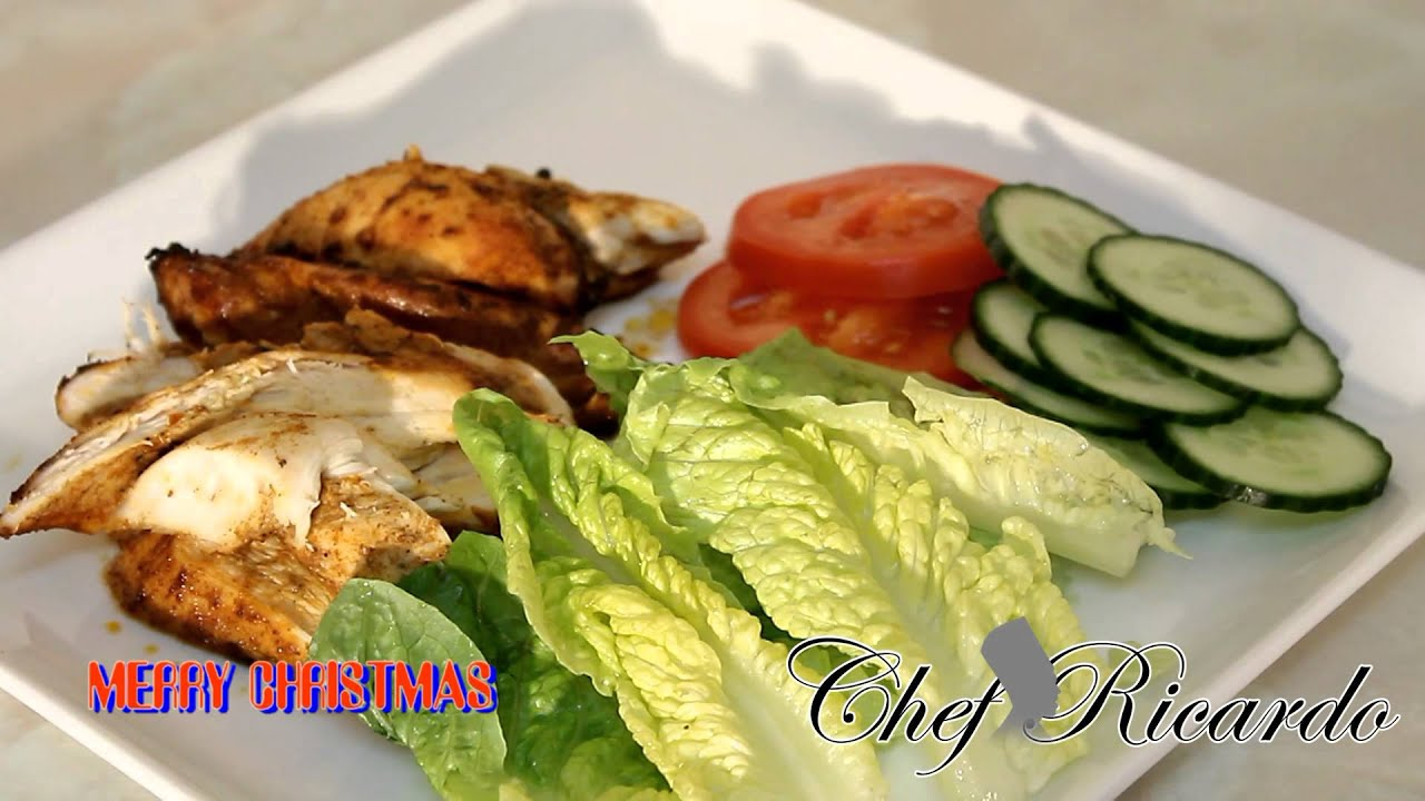 Coming Soon The Jamaican Jerk Chicken Salad Chef Ricardo Cooking Youtube