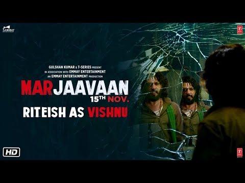 Riteish Deshmukh As Vishnu | Marjaavaan | Sidharth Malhotra,Tara Sutaria | Releasing 15 Nov2019