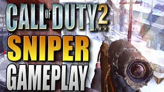 Nine Lives - Sniper Deathmatch Gameplay on Railyard - Call of Duty 2 Multiplayer Gameplay COD2