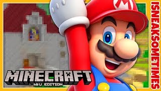 STAIRCASE TO DIRT • Minecraft Nintendo Wii U Edition • Super Mario Bros Mash-Up Survival Part 6