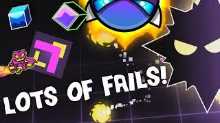 SO MANY FAILS! - Beating Two DanZmeN Demons - Geometry Dash 2.11
