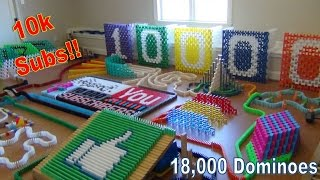 10,000 Subscribers ~ 18,000 Dominoes