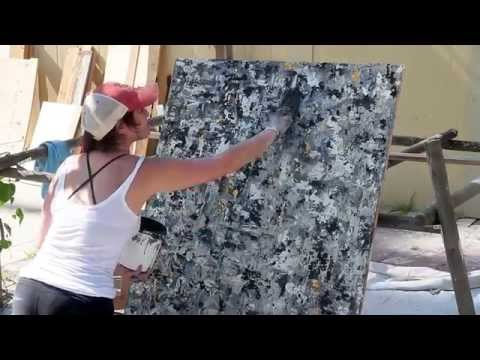 SOPHIA GREEN Painting with concrete