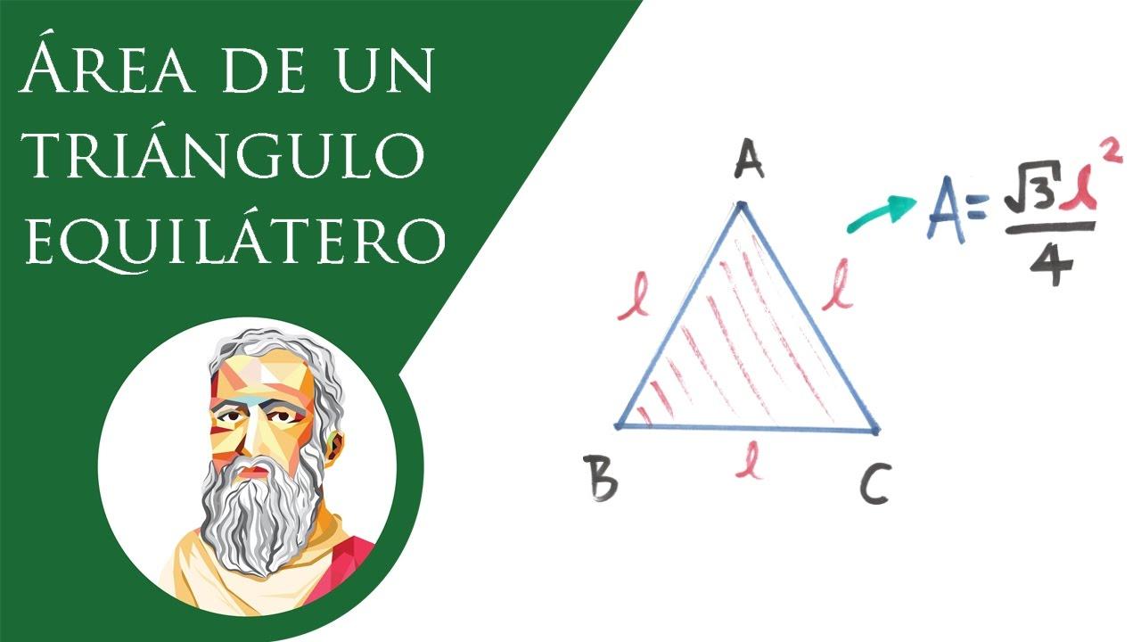 Área de un triángulo equilátero en función de su lado