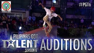 Pilipinas Got Talent 2018 Auditions: Sebby - Skateboarding Stunts