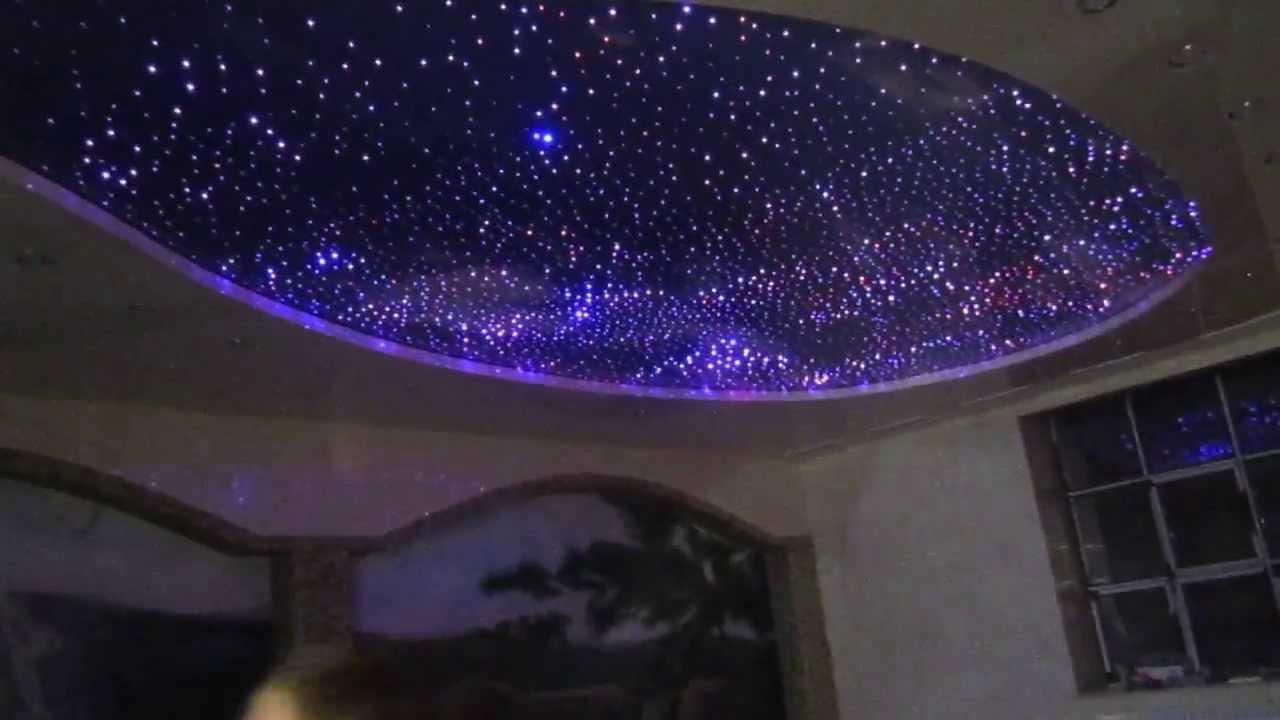 Как сделать натяжной потолок звездное небо фото 272