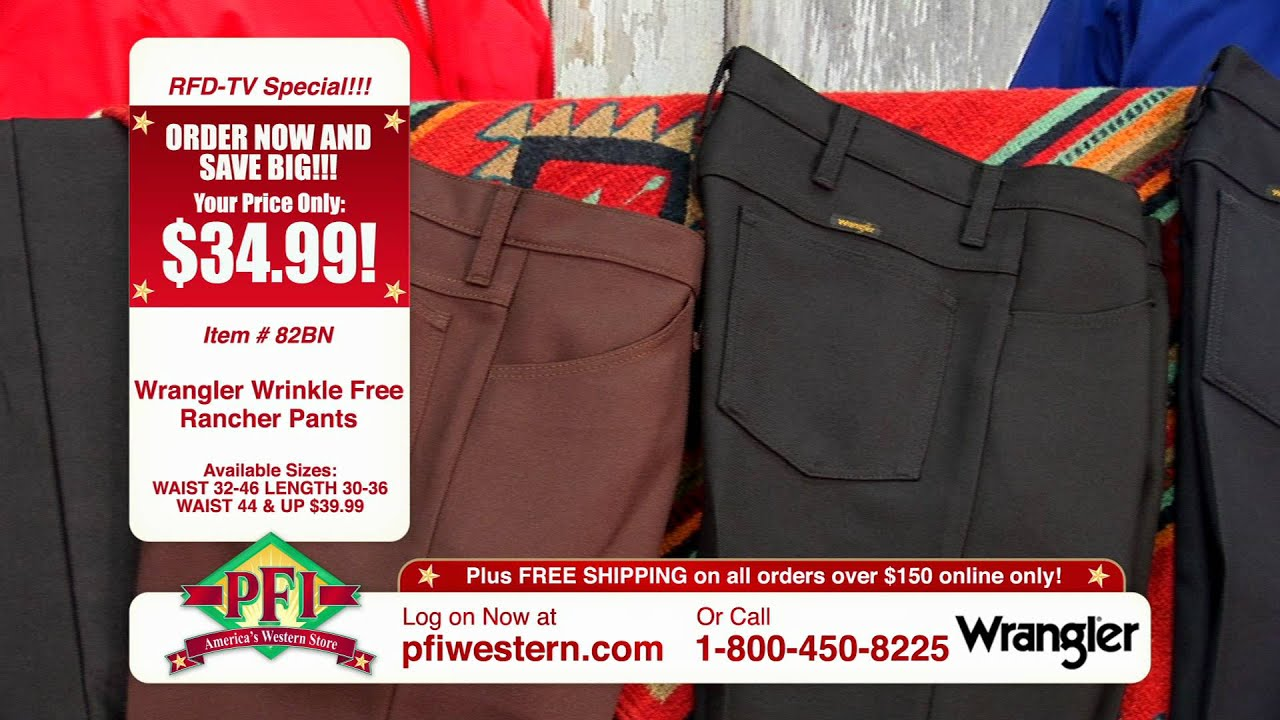 0dae7f82 Wrangler Wrinkle Free Rancher Pants - YouTube