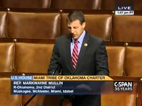 Rep. Mullin speaks on the House Floor about Miami Tribe Charter Bill