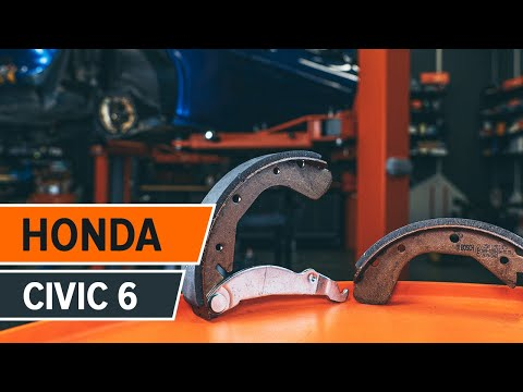 Come sostituire tamburi freno posteriore e le ganasce del freno posteriori su HONDA CIVIC 6