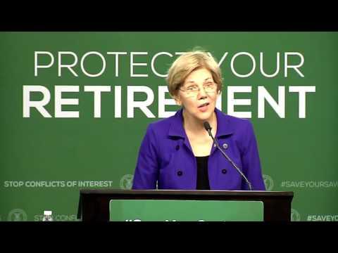 Sen. Elizabeth Warren at DOL Conflict of Interest Rule Announcement