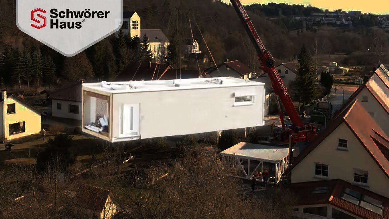 flying space montage hausanbau g nstig mit container haus modulhaus youtube. Black Bedroom Furniture Sets. Home Design Ideas