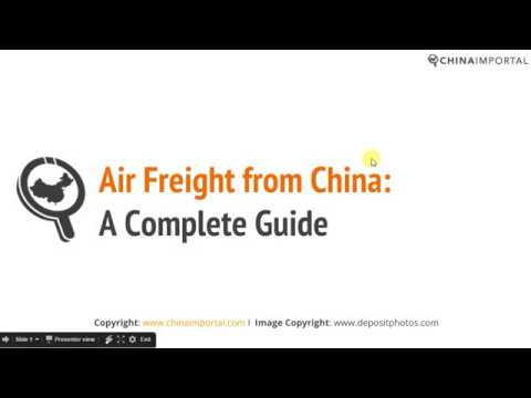 Air Freight When Importing from China: Video Tutorial