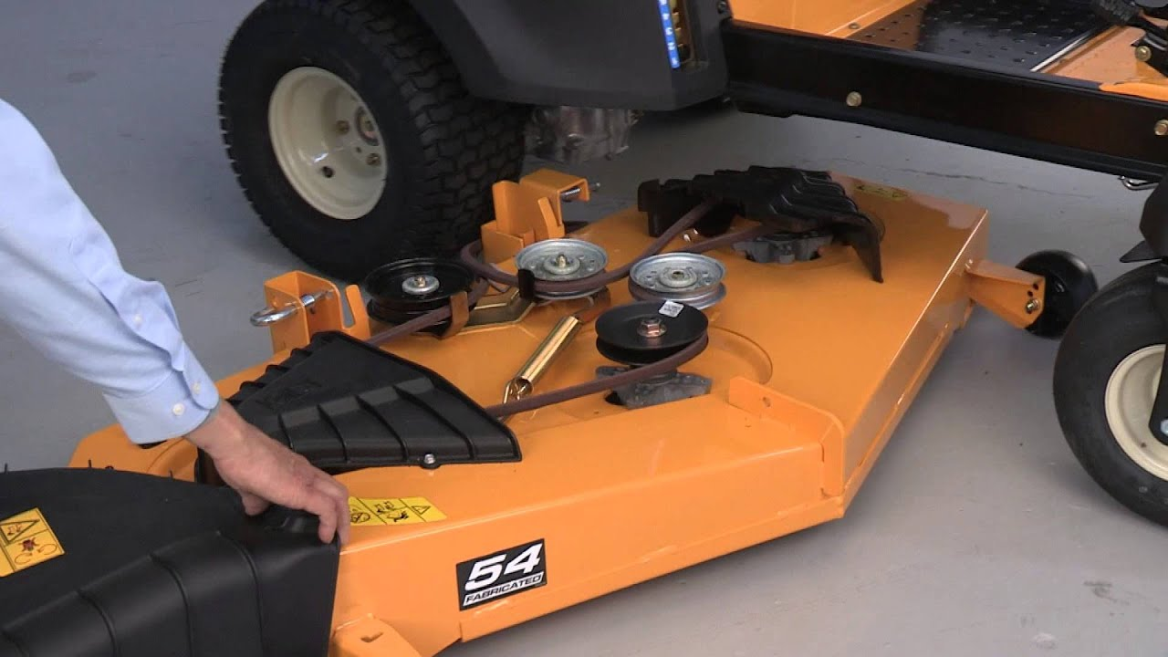 how to change the blades on rzt zero turn riding mowers cub cadet [ 1280 x 720 Pixel ]