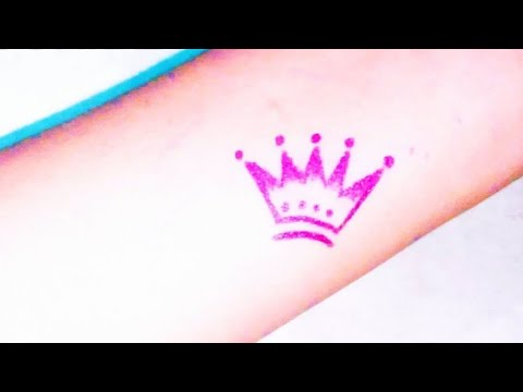 How To Draw Crown । Queen's Crown Tattoo Design। Easy Drawing Of Crown For Kids। Best Tattoo Videos
