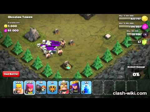 Clash of Clans - Skeleton Traps - Obsidian Tower | clash-wiki.com