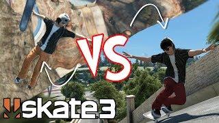 """Skate 3: """"Trickliner"""" vs Realistic Skater!? ft. Nightspeeds!"""