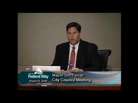 08/09/2016 - Federal Way City Council - Regular Meeting
