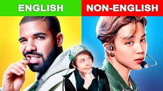 Popular English Songs vs Non-English Songs