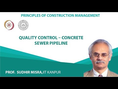 Quality control – concrete sewer pipeline