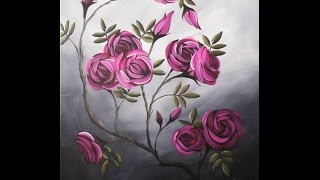 Video Coming up Roses Step by Step Acrylic Painting on Canvas for Beginners download MP3, 3GP, MP4, WEBM, AVI, FLV Juni 2018
