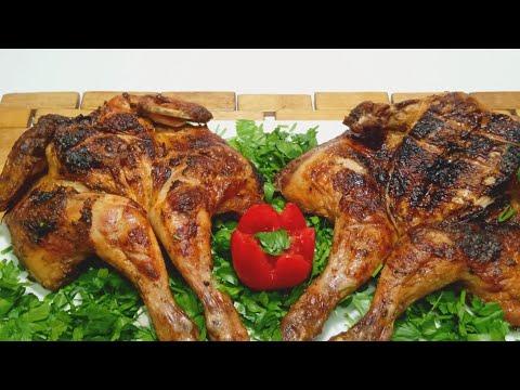 دجاج مشوي ع الفحم باحلى تتبيلة 😋  وسلطة الطحينة بطريقة سهلة  ✔ من مطبخ وصفات سهلة ومتنوعة ✔