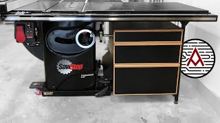 DIY Table Saw Cabinet that Attaches to Mobile Base |  Woodworking Storage