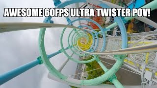Amazing Ultra Twister Roller Coaster POV 60FPS Mitsui Greenland Japan