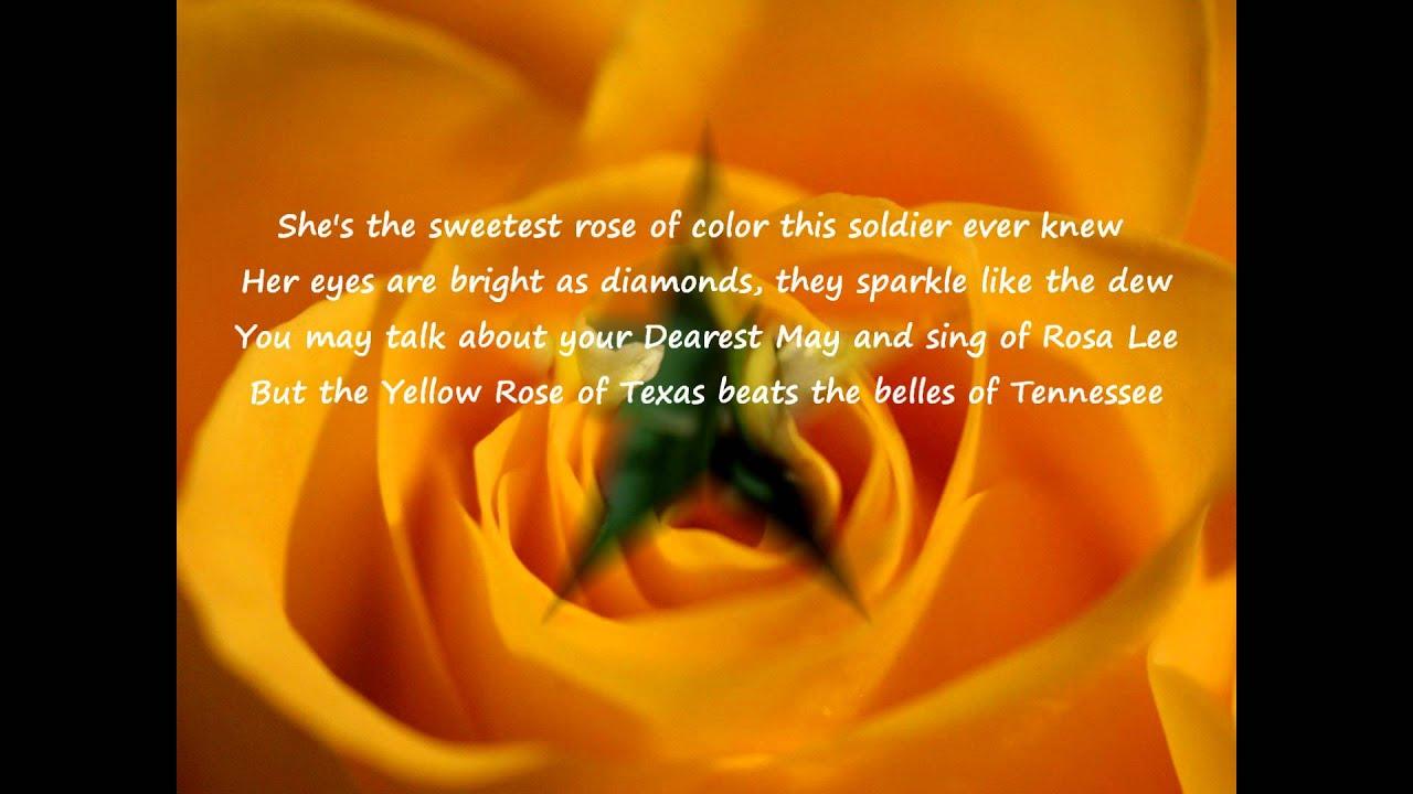 Bobby horton the yellow rose of texas lyrics youtube mightylinksfo