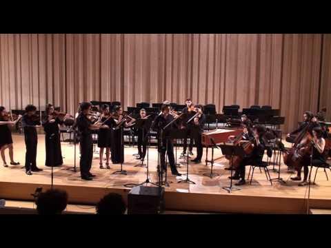 Bach Violin Concerto in d-minor Francisco Henriques Camerata Gareguin Aroutiounian ESML