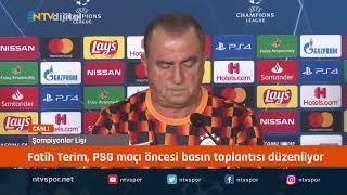 CANLI - Fatih Terim, PSG maçı öncesi basın toplantısı düzenliyor