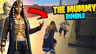 Golden Sunrise(The Mummy) Bundle On Factory Roof Gameplay- Garena Free Fire