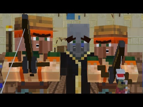 Villager vs Pillager and Wandering Trader Life 1 - Minecraft Animation