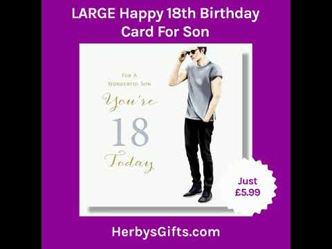 LARGE Happy 18th Birthday Card For Son 2019