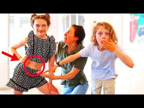 BELLY PIERCED PRANK ON OVER PROTECTIVE PARENT   Sabre gets revenge
