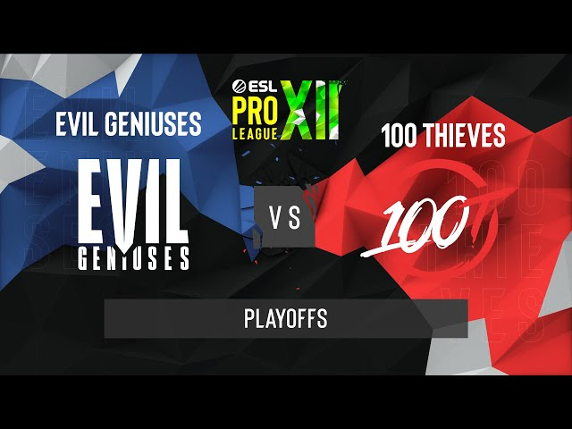 CS:GO - Evil Geniuses vs. 100 Thieves [Inferno] Map 2 - ESL Pro League Season 12 - Playoffs - NA